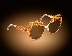 Floral golden Frames D Sunglasses