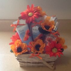 Wild Poppy Gift Basket by Gifted Occakesions n Baskets