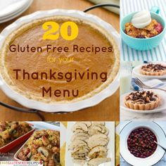 20 Gluten Free Recipes for Your Thanksgiving Menu - plan out your entire meal with these 20 delicious gluten free recipes! - FaveGlutenFreeRecipes.com
