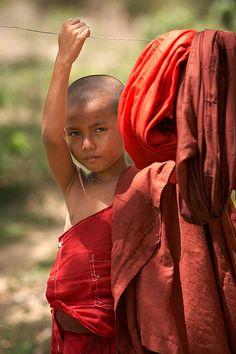 Young monk. Myanmar.  © Inaki Caperochipi Photography