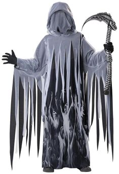 Amazing Soul Taker Grim Reaper Costume Child. Incredible range of Spooky & Horror Costumes for Halloween at PartyBell. Scary Kids Costumes, Boy Costumes, Halloween Costumes For Kids, Vintage Halloween, Costume Ideas, Halloween Dress, Halloween Night, Baby Halloween, Spooky Halloween