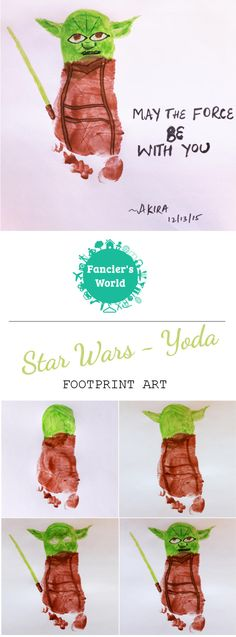 Yoda Footprint Art ~ May the force be with you! Perfect activity to do with your little Star Wars fans.