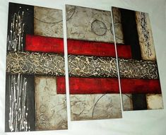 Cuadros Abstractos Con Texturas Y Alto Relieve - S/. 350,00 en MercadoLibre Diy Wall Art, Home Wall Art, Diy Art, Abstract Canvas, Canvas Wall Art, Creation Deco, Texture Painting, Acrylic Art, Modern Art