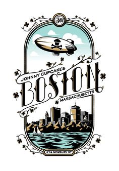 Johnny Cupcakes Boston special edition tee