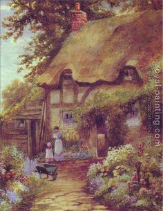 reproduction - A cottage garden