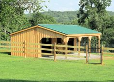 10'x32' Horse Barn with Overhang