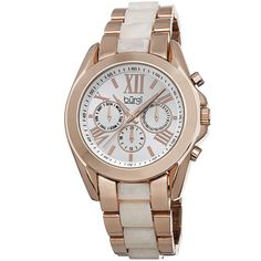 Burgi Women's Multifunction Day Date and 24 Hour-Indicator Bracelet Watch