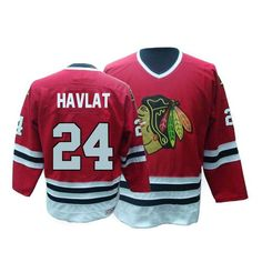 0f1938d3d56 Authentic Martin Havlat Red Men s NHL Jersey   24 Throwback Chicago  Blackhawks CCM Blackhawks Jerseys