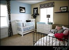 older child and baby sharing room