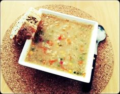 zeleninová polévka s vločkama
