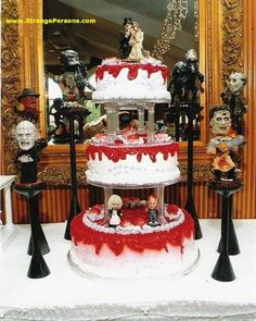I would have this it at the wedding just for my horror movie freak, love you babe! :)