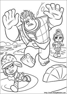 Guarda tutti i disegni da colorare di Ralph Spaccatutto www.bambinievacanze.com
