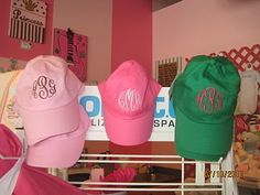 Monogrammed baseball hat. but a camouflage one:)