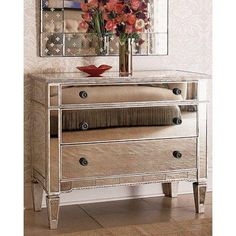 Mirrored Hall Chest