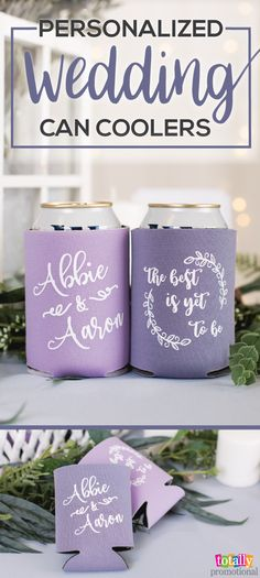 Give your guests a thoughtful gift with customized wedding can coolers! Select from unique styles that fit cans, bottles, pint glasses and cups. We offer up to 54 products colors to accent any wedding theme. Browse hundreds of imprint designs or upload your own artwork. We make it easy to give your guests wedding can coolers they can keep for forever!