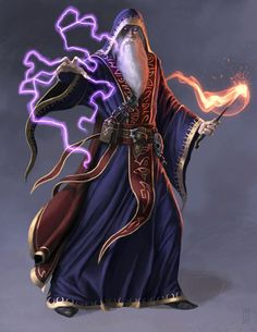 This image reminds me of Maltar, Ravenford's irritable town wizard
