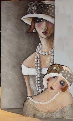 """""""Buste en terre et sa peinture"""", Acrylic pigment, by Véronique Didierlaurent / http://didierlaurentveronique.com"""