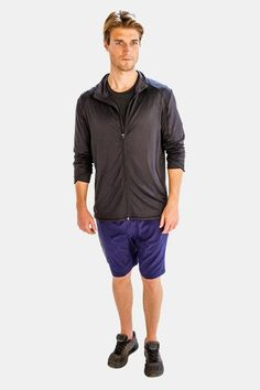 This exclusive stunning solid black jacket from Alanic is for those who never compromise on their fashion approach. Cool Hoodies, Solid Black, Black Men, Jackets Online, Hooded Jacket, Active Wear, Cool Outfits, Workout Jackets, Men Online