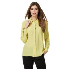 Principles Petite by Ben de Lisi Yellow printed shirt | Debenhams