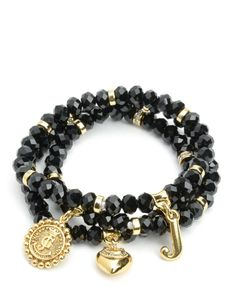 SET OF 3 HERITAGE BEADED BRACELETS - Juicy Couture