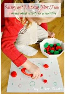 Fine Motor Activity of the Week: Sorting & Matching Pom Poms - pinned by @PediaStaff – Please Visit  ht.ly/63sNt for all our pediatric therapy pins