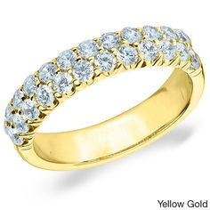Amore 14k White or Yellow Gold 1ct TDW Pave Diamond Ring (H-I, I1-I2) (Yellow Gold - 11.5), Women's