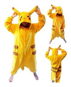 New pikachu adult teen onesie all in one sleepsuit pyjamas romper s m l xl