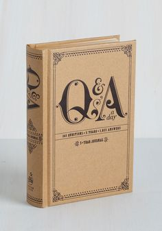 Q&A a Day Five Year Journal. Youll be prompted to reflect on the passage of time as you respond to the unpredictable questions that fill this petite journal! #brown #modcloth