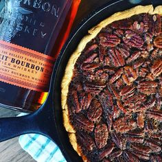 Bourbon and Smoked Pecan Pie   GrillGirl: healthy grilling recipes, big green egg recipes, pellet cooker recipes, paleo recipes, low carb recipes, tailgating recipes, cast iron recipes, BBQ recipes