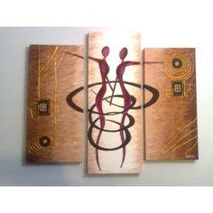 Cuadros modernos abstractos, minimalistas, trípticos, decoración