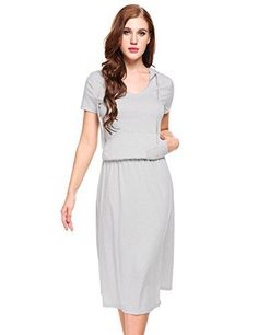 New Trending Formal Dresses: Zeagoo Womens Casual Short Sleeve Hoodie Pocket Blouson Maxi Dress. Zeagoo Women's Casual Short Sleeve Hoodie Pocket Blouson Maxi Dress  Special Offer: $21.99  277 Reviews Size chart 1. Hint for choosing proper size, use similar clothing to compare with the size. 2. Choose larger sizes if your size are same as the flat measurement Size chart ...