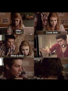 teen wolf, stiles, and lydia afbeelding Stiles Teen Wolf, Teen Wolf Stydia, Stiles And Lydia, Teen Wolf Boys, Teen Wolf Dylan, Teen Wolf Cast, Dylan O, Teen Wolf Memes, Teen Wolf Quotes
