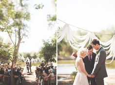Rustic Handmade Wedding: Alisa + Kyle.  ceremony backdrop.  via greenweddingshoes