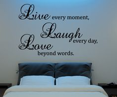 Live Laugh Love Wall Decal Vinyl Sticker Quote