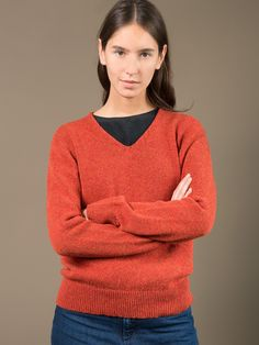 WOLFEN.  Sweater is knitted of a pure shetlandwool. Made in Germany.