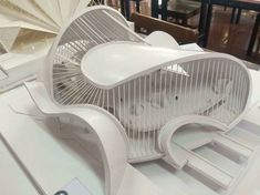 Redefining an element from wall to roof/curve/ etc. Maquette Architecture, Architecture Design, Concept Models Architecture, Pavilion Architecture, Organic Architecture, Futuristic Architecture, Landscape Architecture Model, Drawing Architecture, Residential Architecture