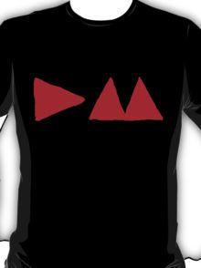 Depeche Mode : Medium Logo DM 2013 - Red T-Shirt