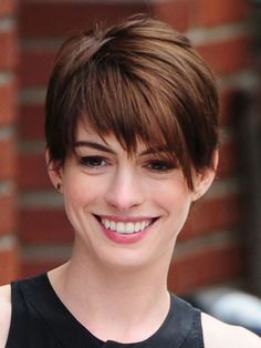 Image result for anne hathaway short hair