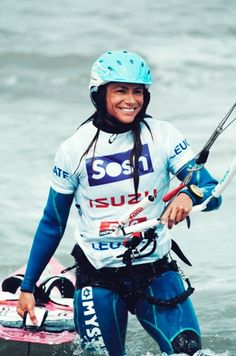 Charlotte Consorti - Kite surfeuse pro a remporté la Sosh Cup à Leucate sur le Mondial du Vent 2013 #winneuse #love