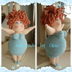 Handmade by Ginia / Crochet fat ladies / gehaakte dikke dametjes / amigurumi chubby girls Crochet Amigurumi, Amigurumi Patterns, Amigurumi Doll, Crochet Patterns, Cute Crochet, Crochet Crafts, Yarn Crafts, Crochet Projects, Knitted Dolls