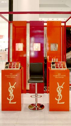 "YSL ""Rouge Pur Couture"" pop-up site by #elementaldesign"
