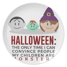 My Children Are Monsters Halloween Design Dinner Plate - Halloween happyhalloween festival party holiday