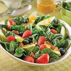 Salade fraîcheur épinards et poires - Recettes - Cuisine et nutrition - Pratico Pratique
