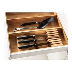 IKEA - VARIERA, Messerfach, Sorgt in Schubladen für Übersicht und leichten Zugriff auf Messer.Die robuste Holzoberfläche schont Messerklingen.Massivholz ist ein strapazierfähiges Naturmaterial.
