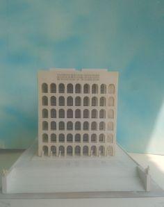 #HistoricalArchitecturalModels #shoppingonline #PalazzodellaCiviltà #Colosseoquadrato #eur #roma #fendi