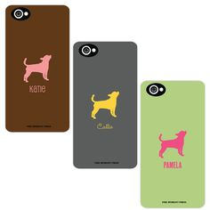 Dog Silhouette iPhone 4 iPhone 5 or Android by FireHydrantPress, $40.00