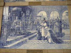 Azulejo alusivo a Egas Moniz - Estação de S.Bento