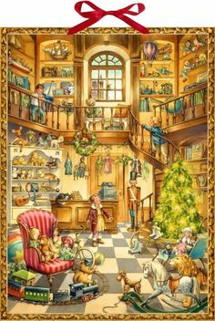Christmas Toy Shop Advent Calendar by Coppenrath Germany