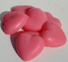 Pink Sugar Soy Candle Tart Hearts by Kindredscents on Etsy, $3.75