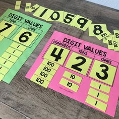 Free place value - lucky little learners education: math pin Second Grade Math, First Grade Math, Math Games Grade 1, Teaching Second Grade, Grade 2, Math Stations, Math Centers, Math Place Value, Place Value Centers